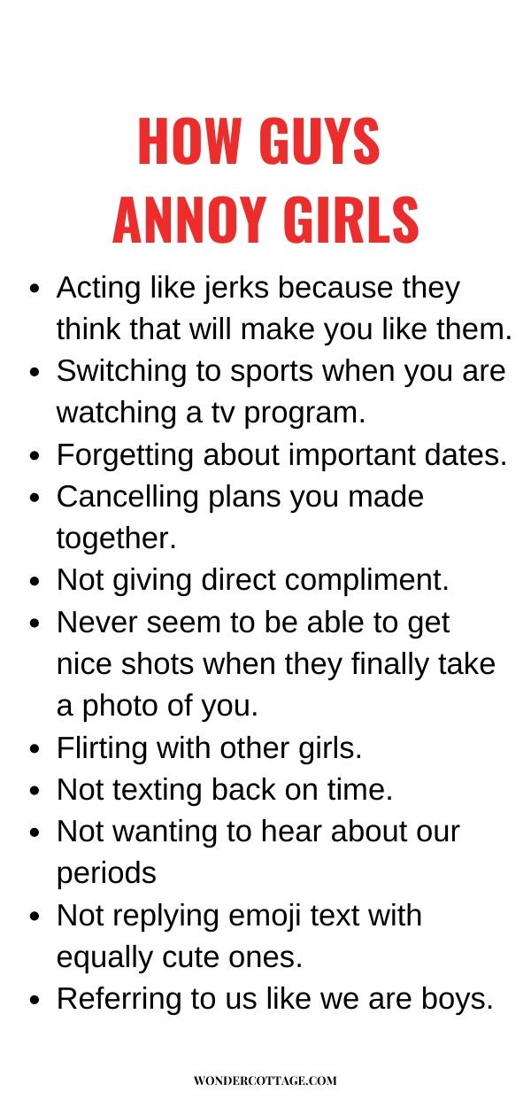 how guys annoy girls