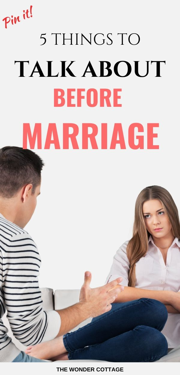 things to talk about before marriage