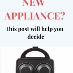 investing in kitchen appliance