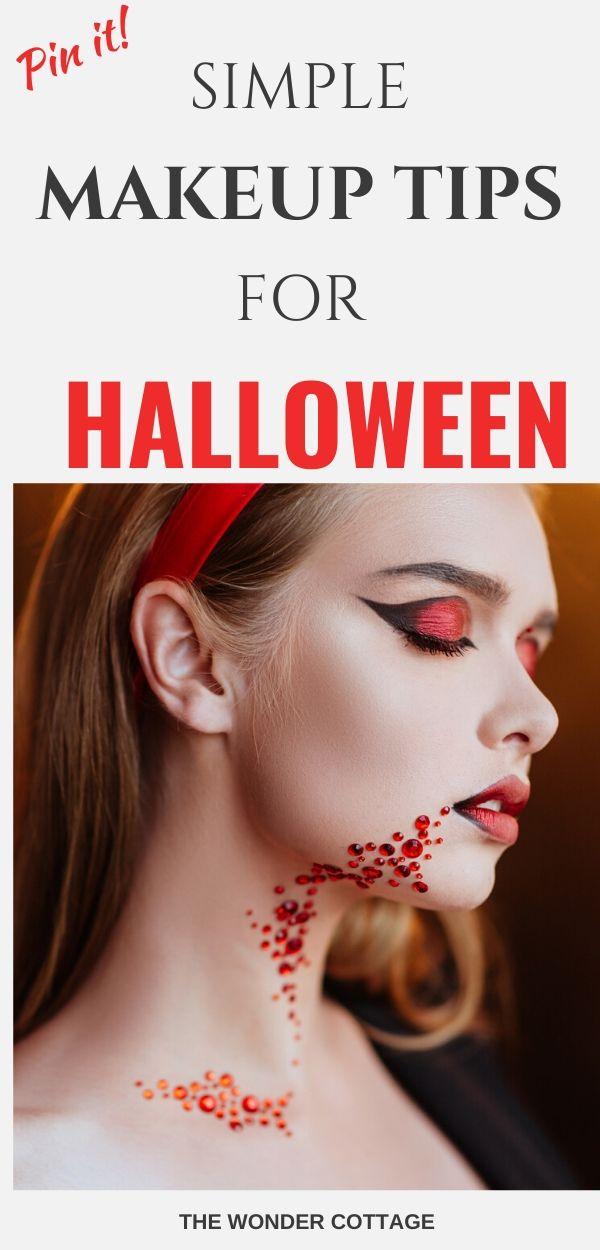 easy halloween makeup tips