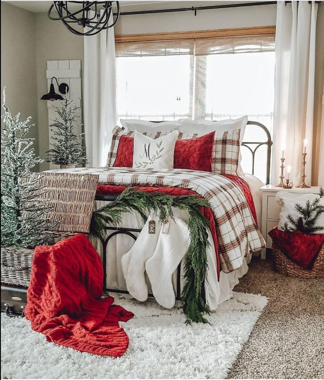 bedroom decor for christmas