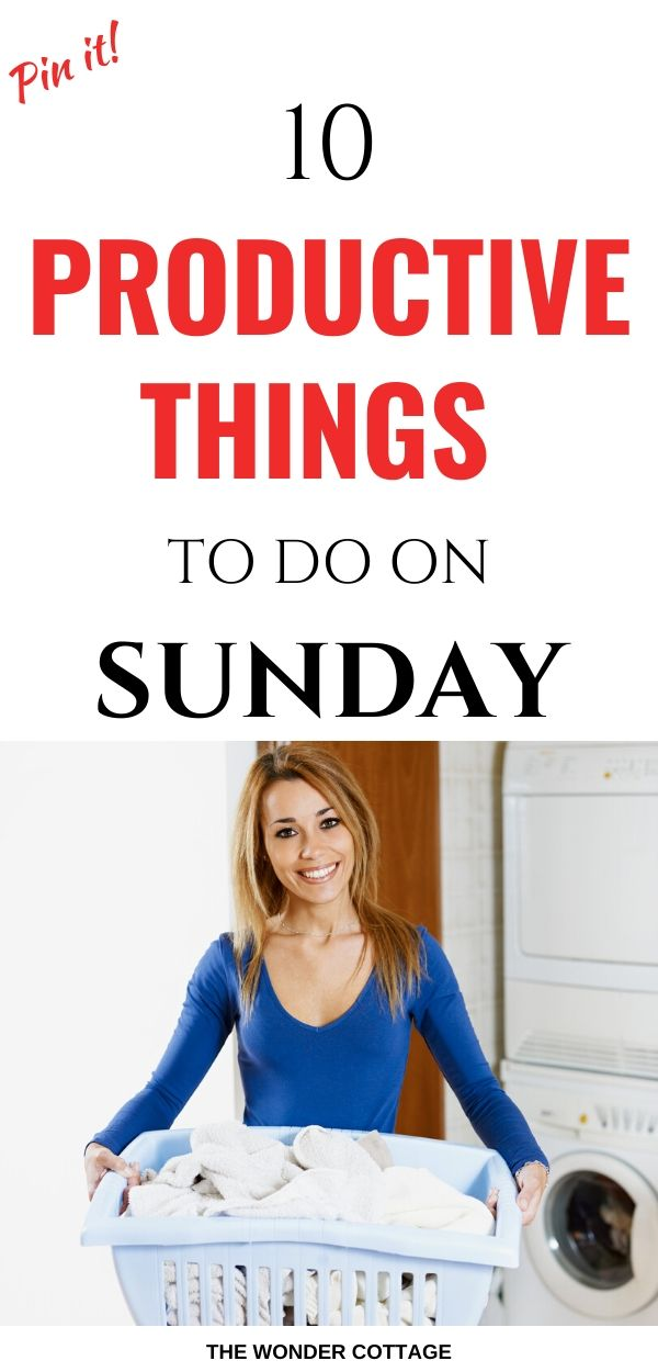 things to do for a productive week
