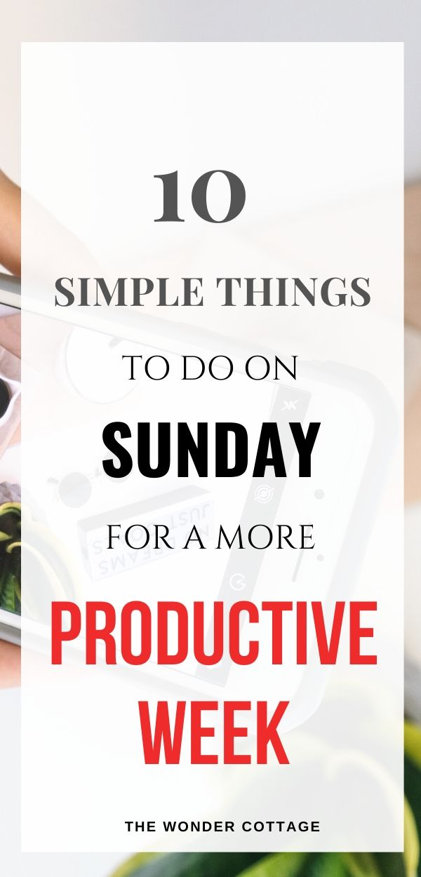 things to do on sunday