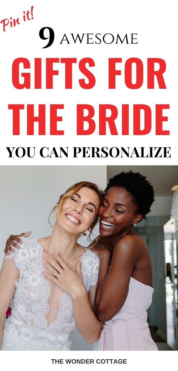 gifts for the bride you can personalize