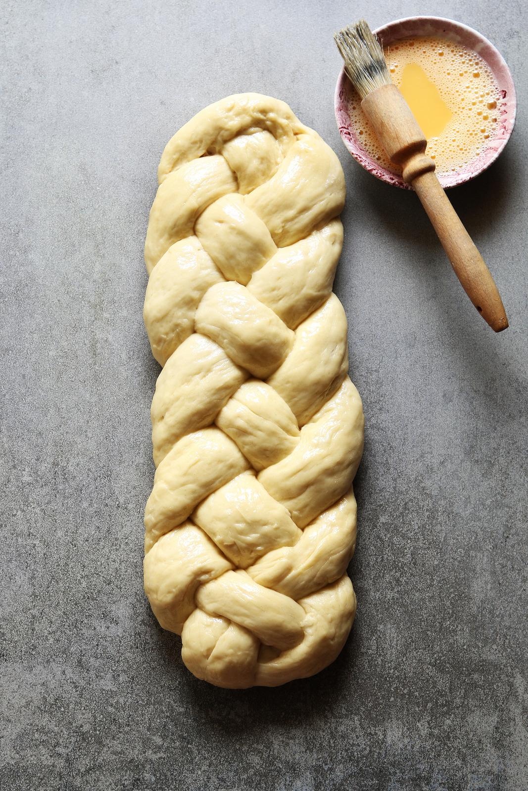 Braided bread dough