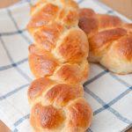homemade braided rice bread