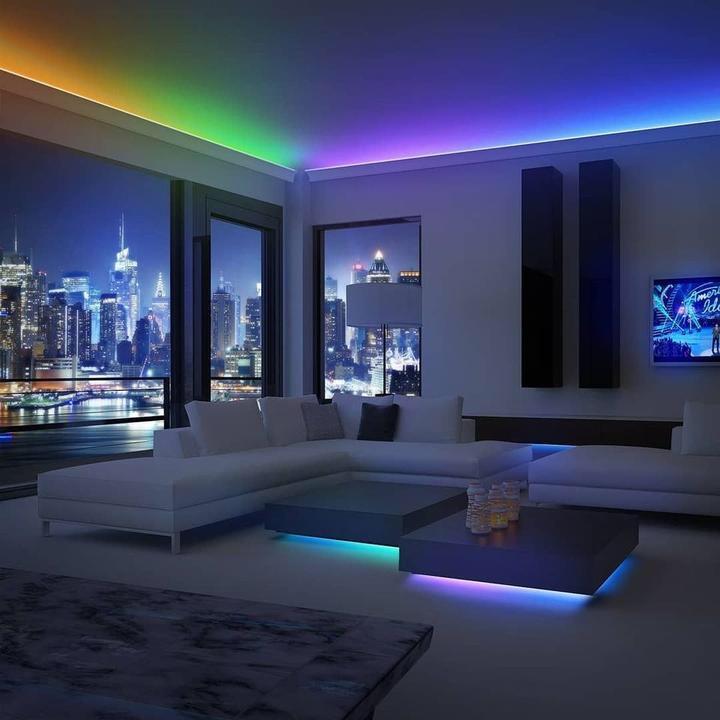 Led strip ceiling living room