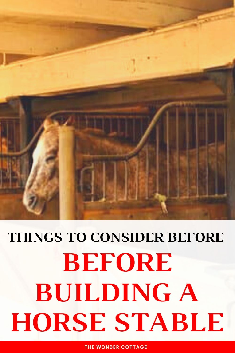 things to consider before building a horse stable
