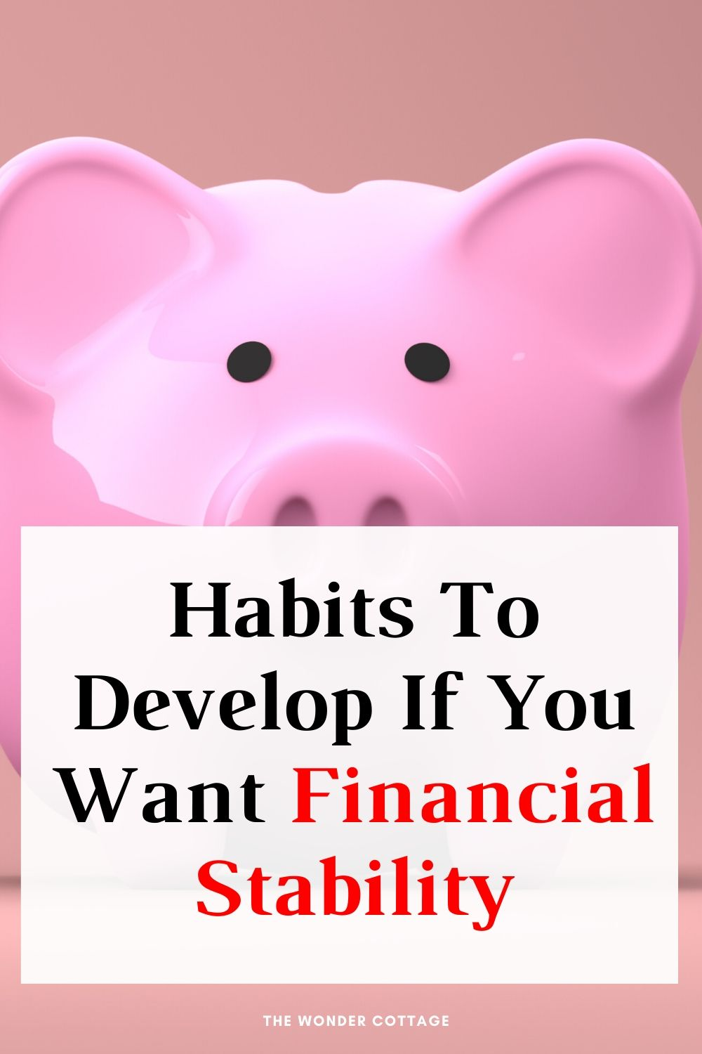 habits to develop if you want financial stability