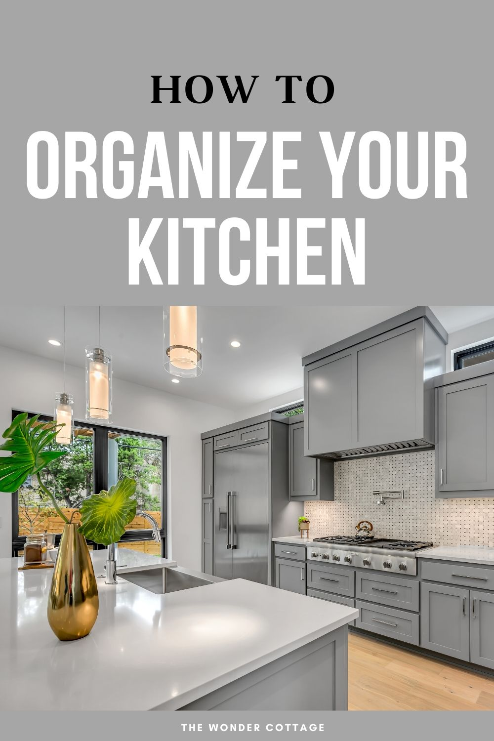 how to organize your kitchen
