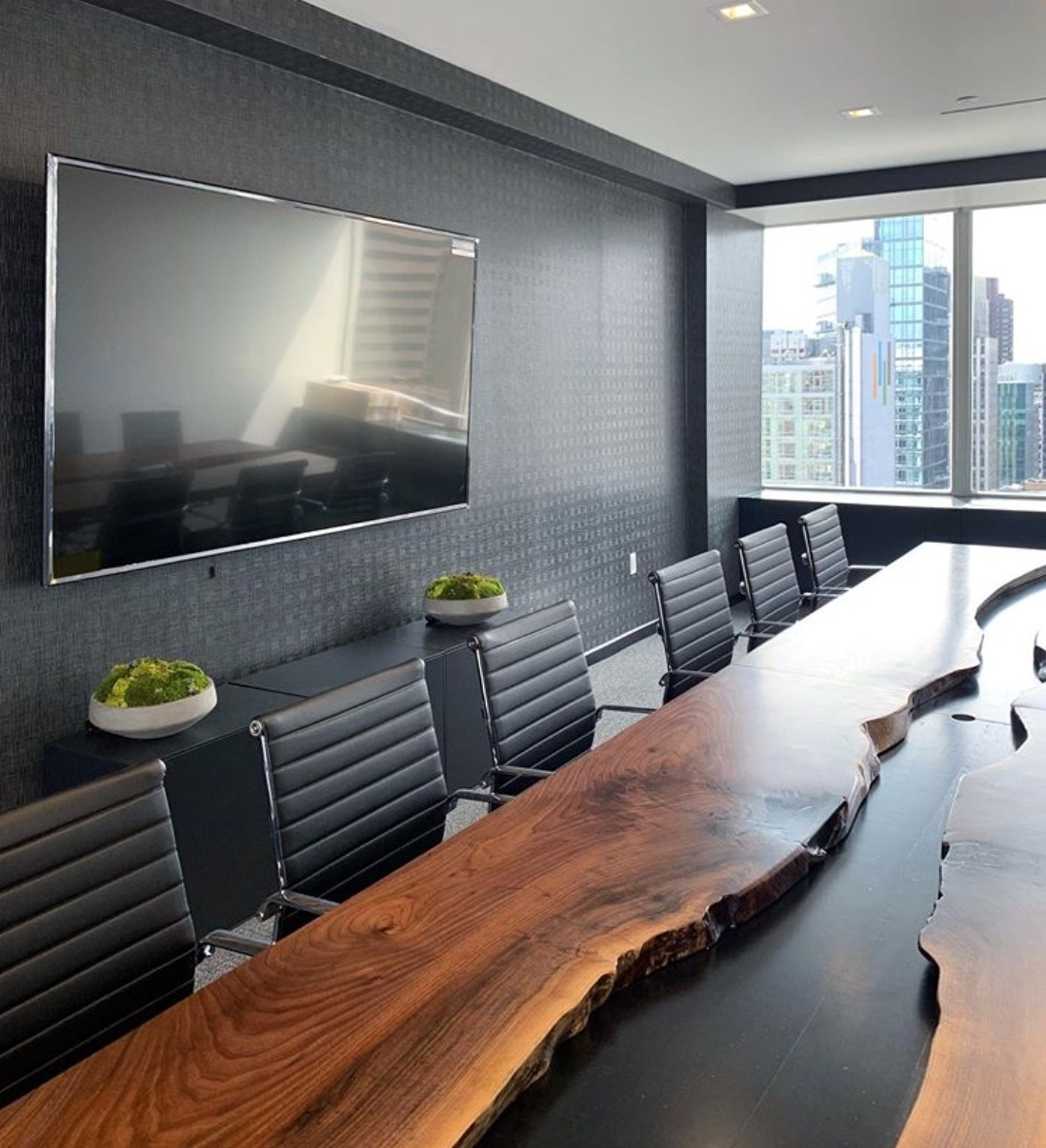 black conference room