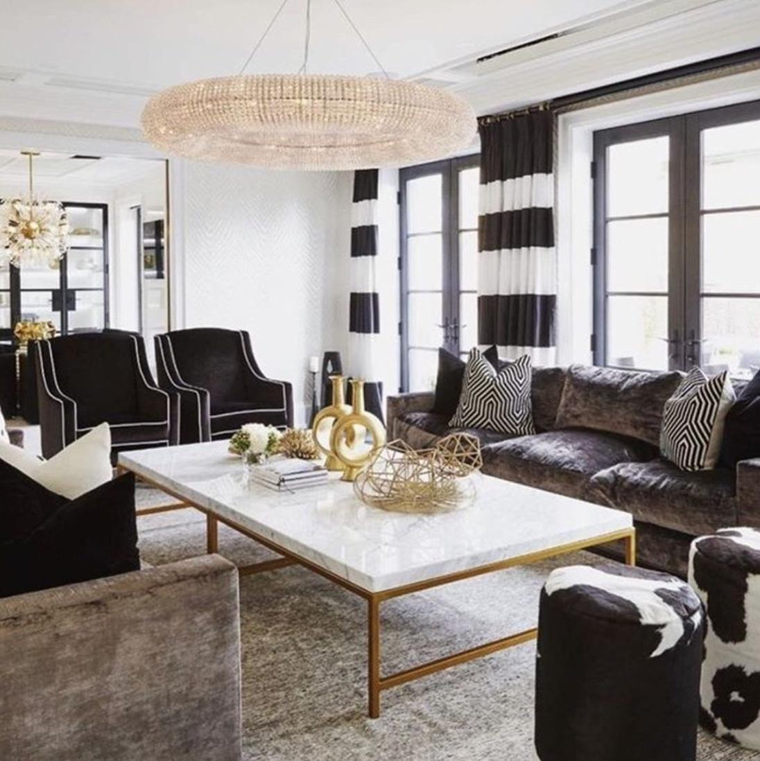 20 Black And White Living Room Decor Ideas - The Wonder Cottage