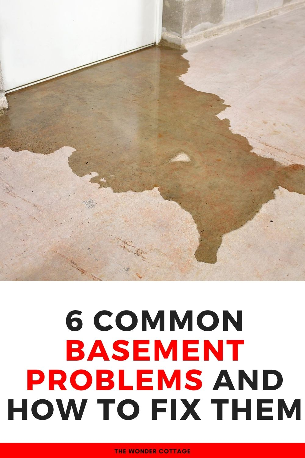 6 common basement problems and  how to fix them