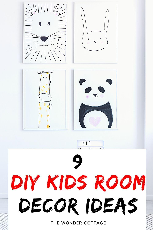 9 diy kids room decor ideas