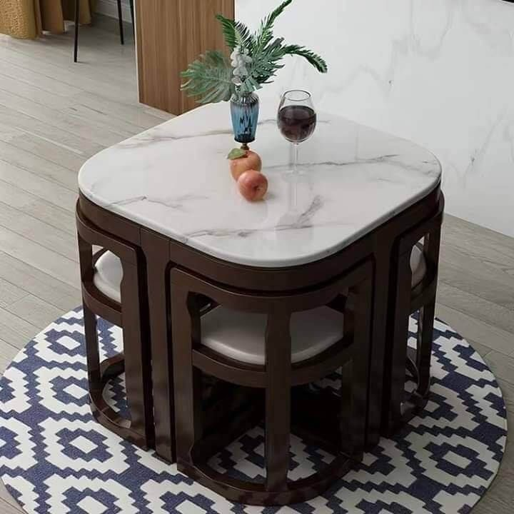 round dining tables with tuck under chairs