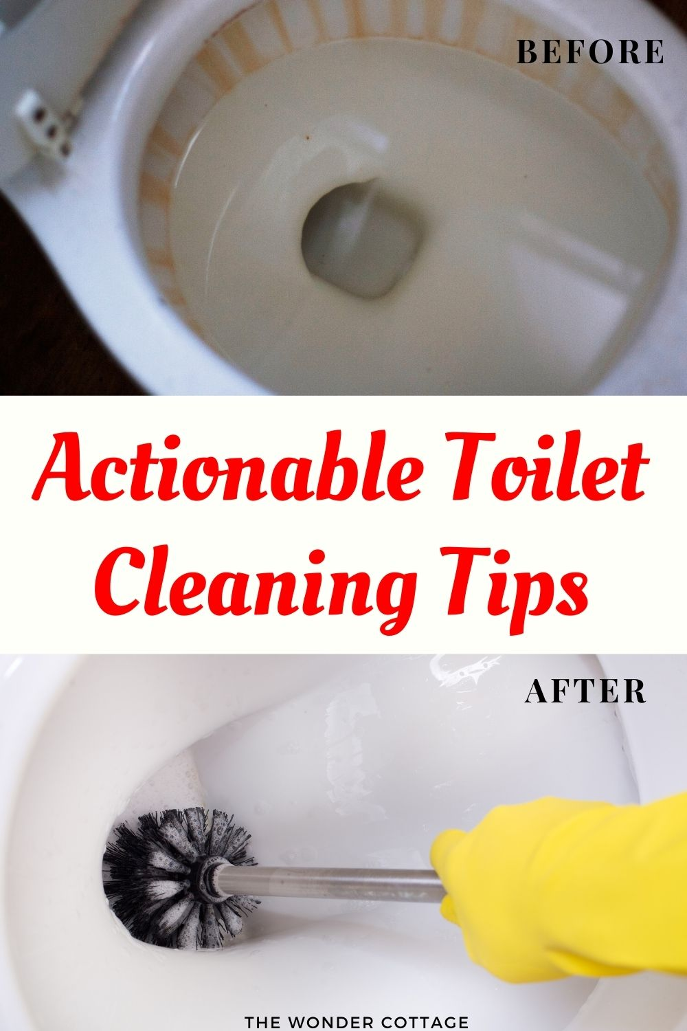 Actionable toilet cleaning tips