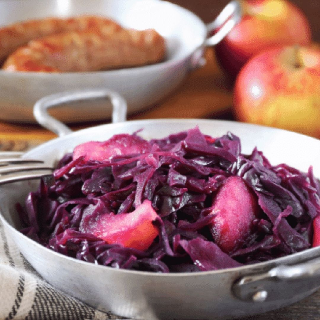 Seared Sausage with Cabbage & Pink Lady Apples