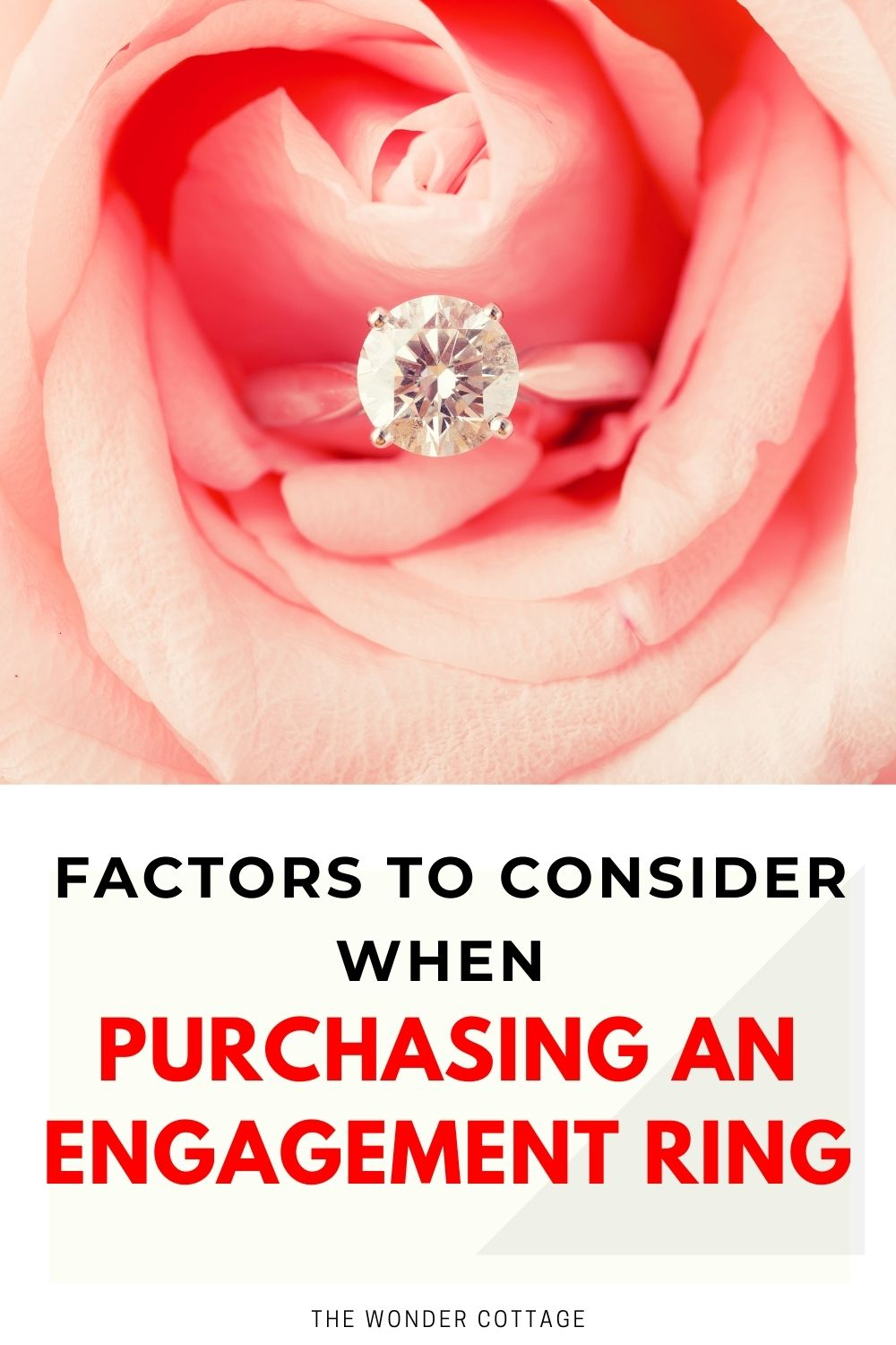 factors to consider when purchasing an engagement ring