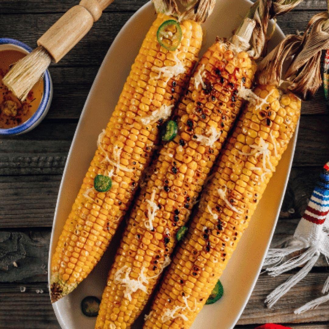 Grilled Spicy Corn Cob