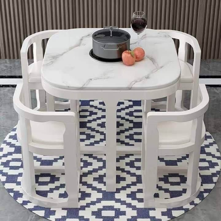 dining table with tuck under chairs