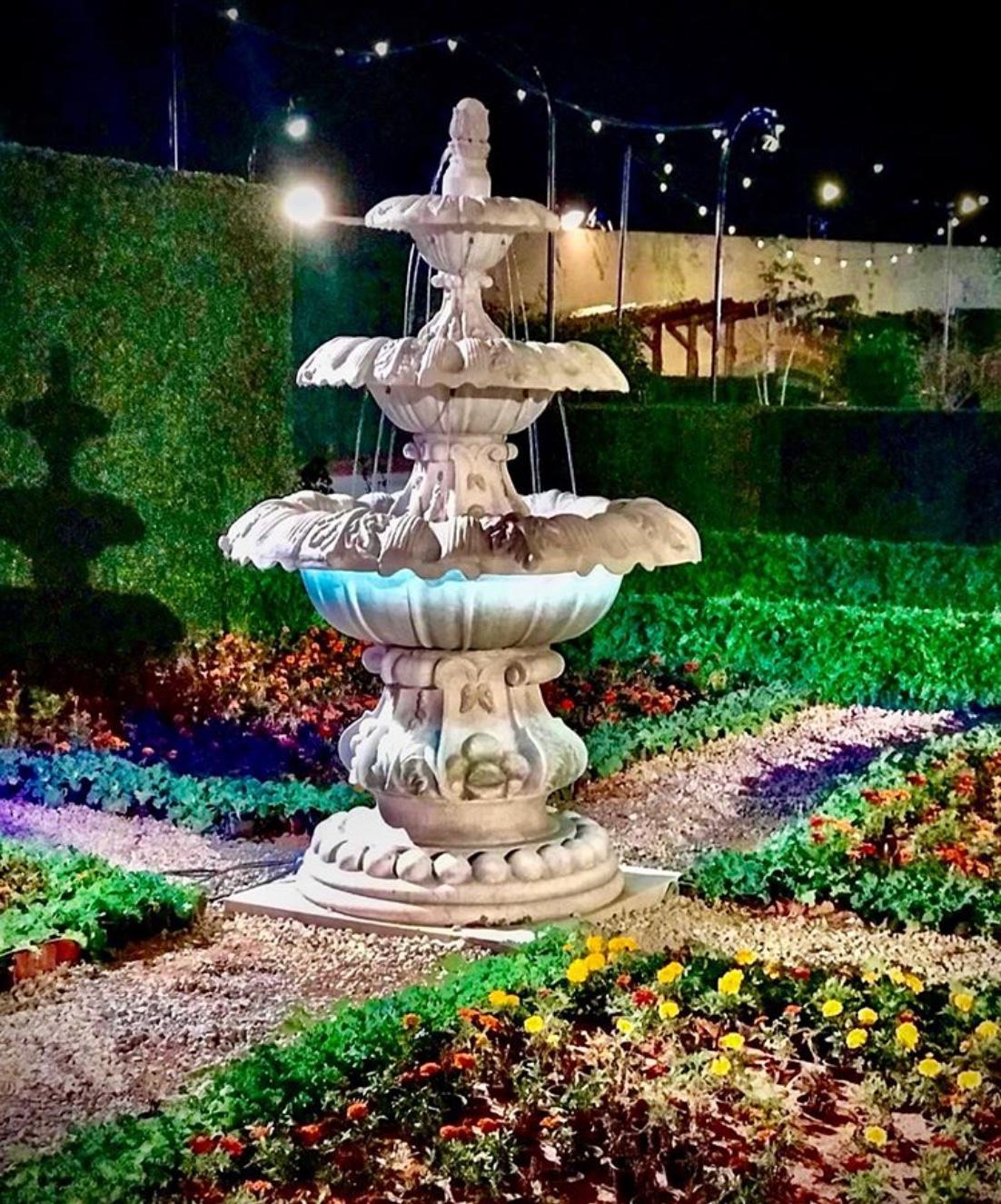 garden fountain
