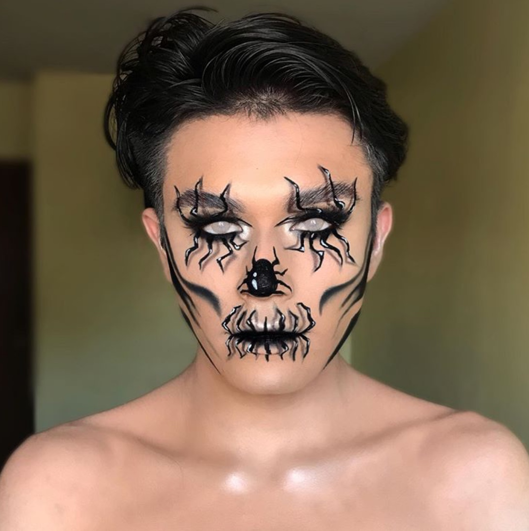 Spider makeup for halloween