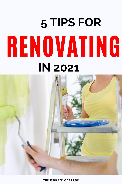 5 tips for renovating in 2021