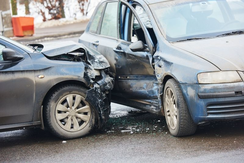 car crash on the street