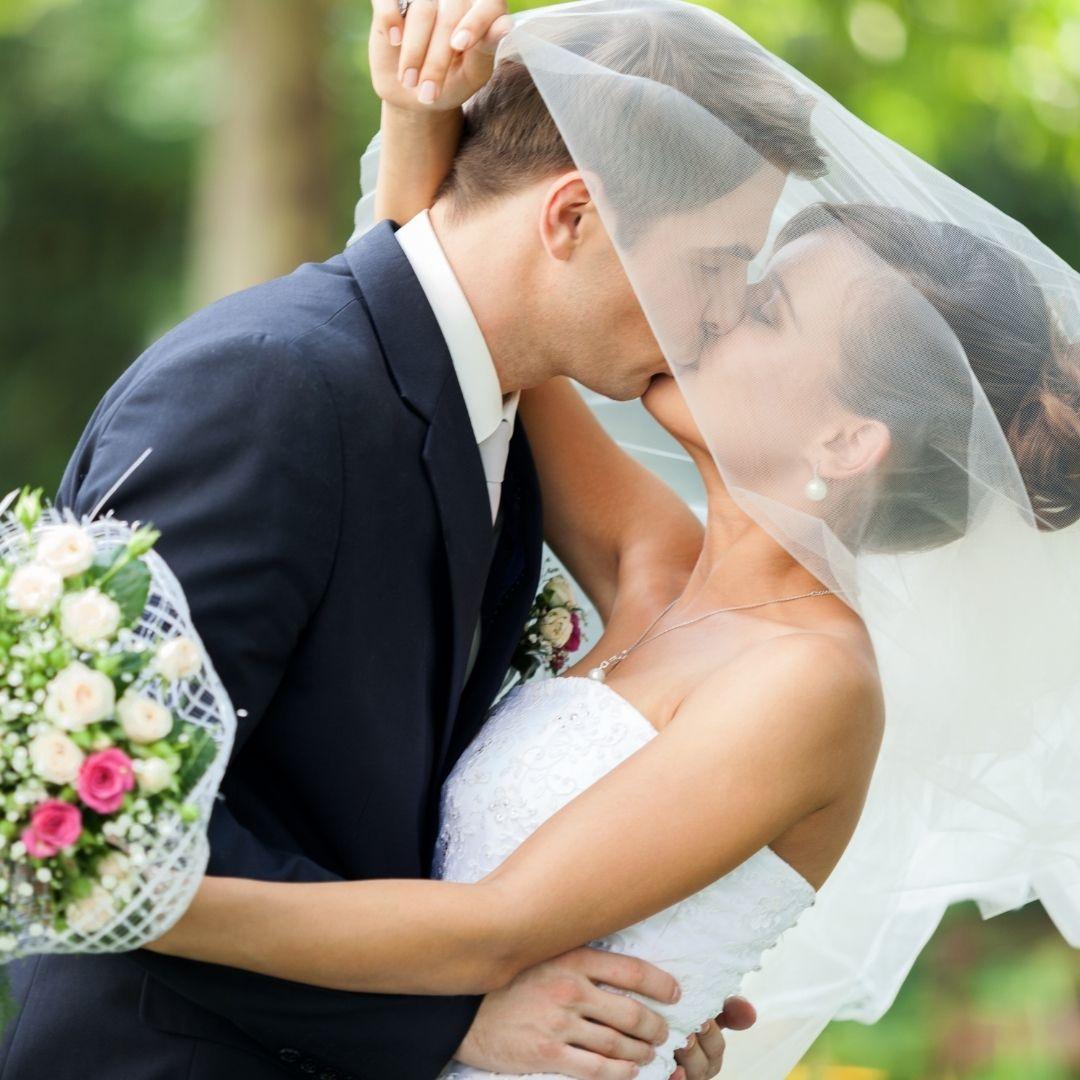 beautiful wedded couple