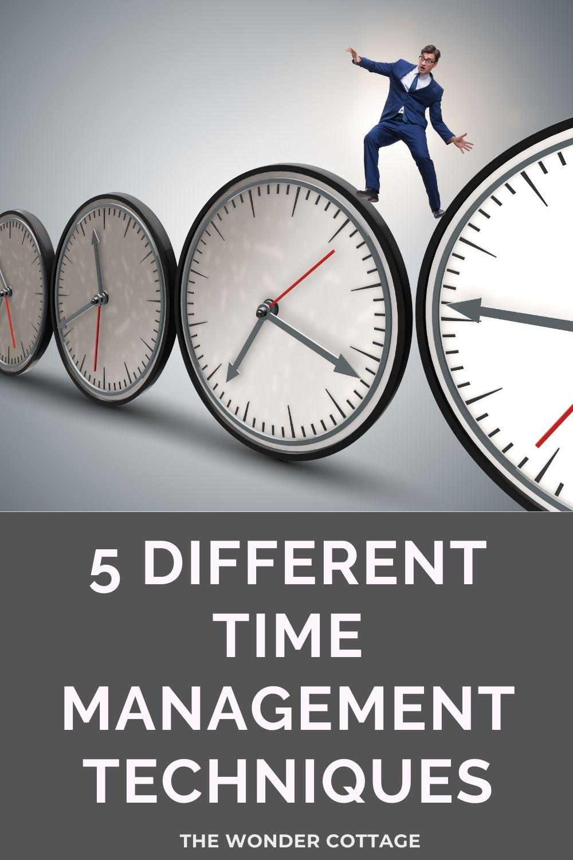 5 different time management techniques