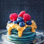 blue spirulina pancakes recipe, blue pancakes