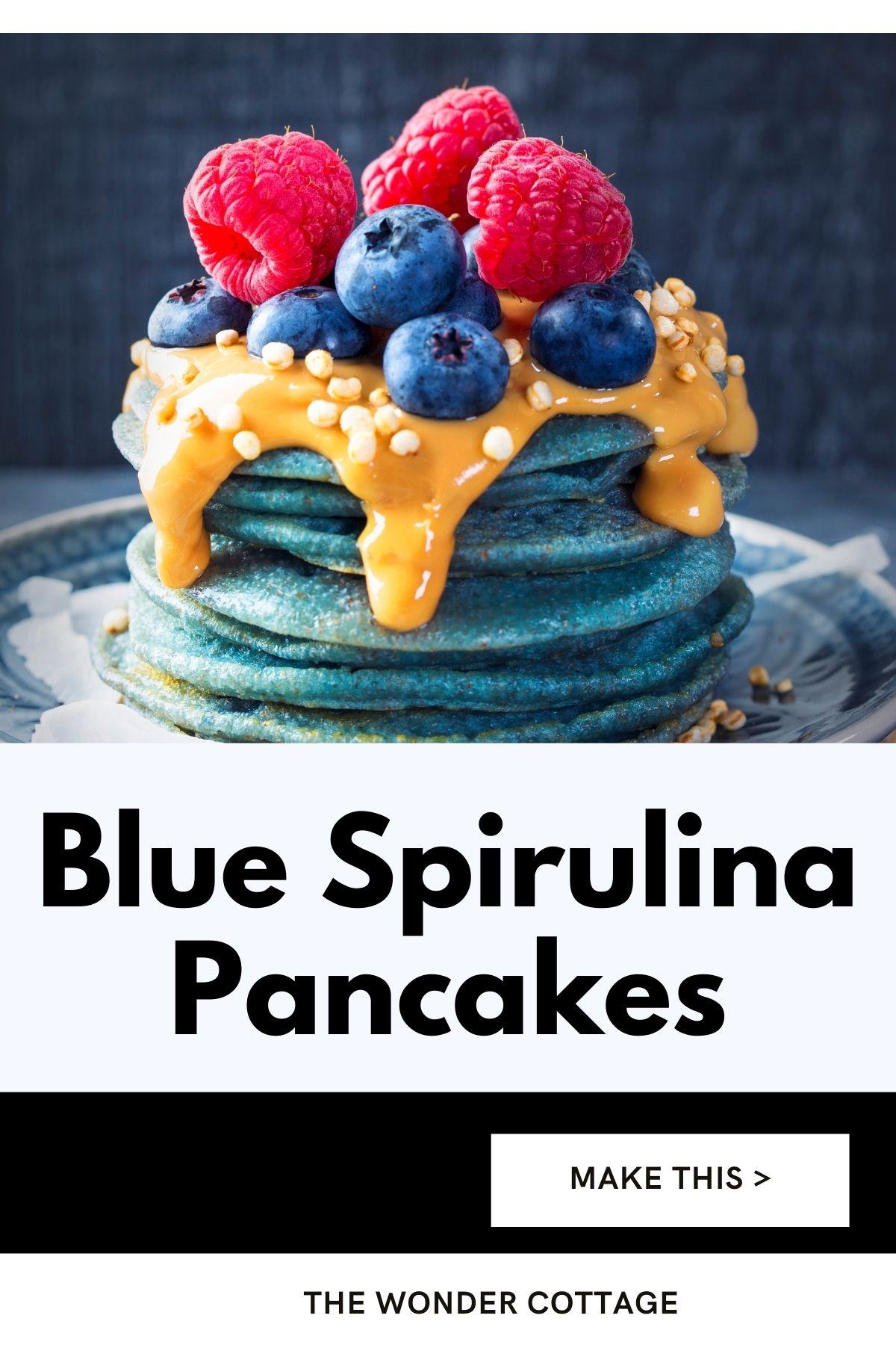 blue spirulina pancakes