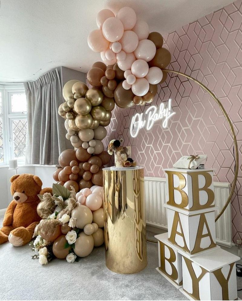 baby shower balloon decor ideas