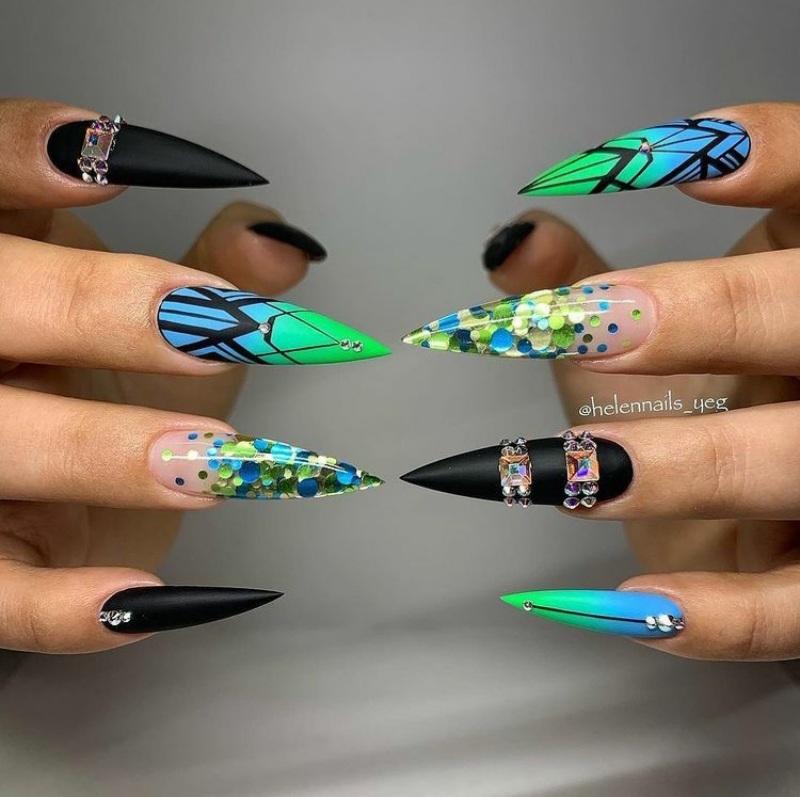 stiletto nails for spring