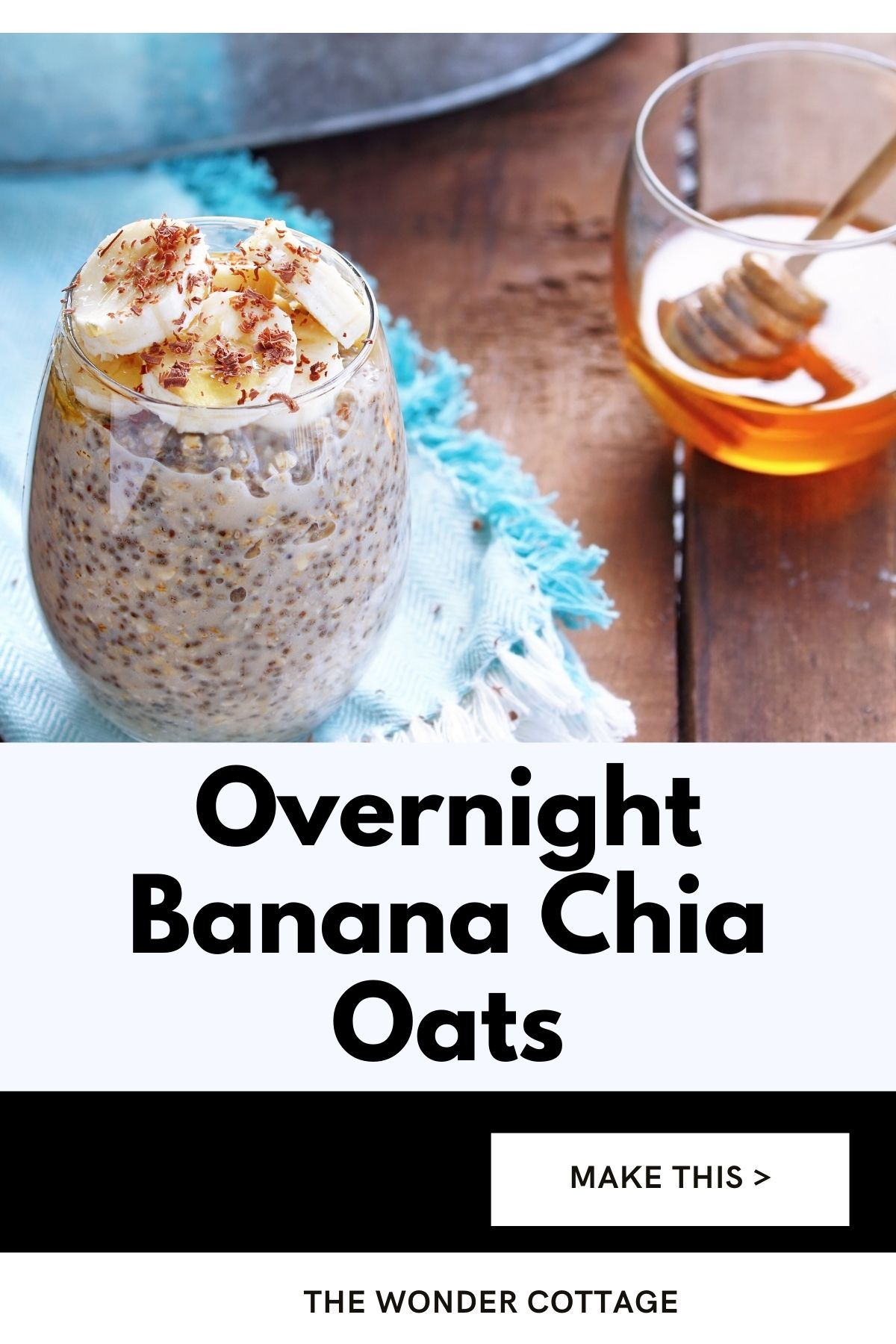overnight banana chia oats
