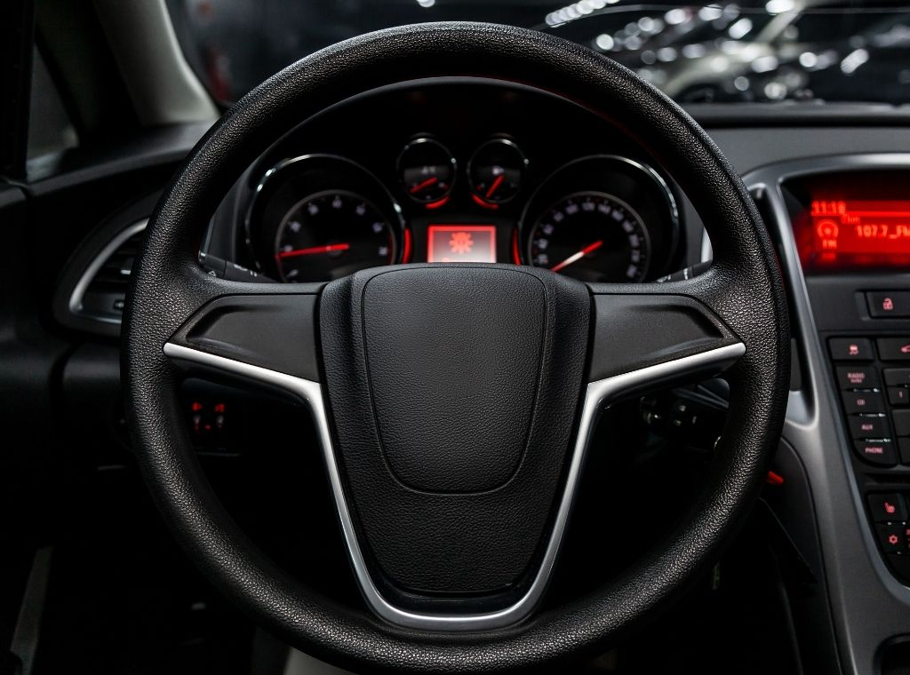 new car steering wheel