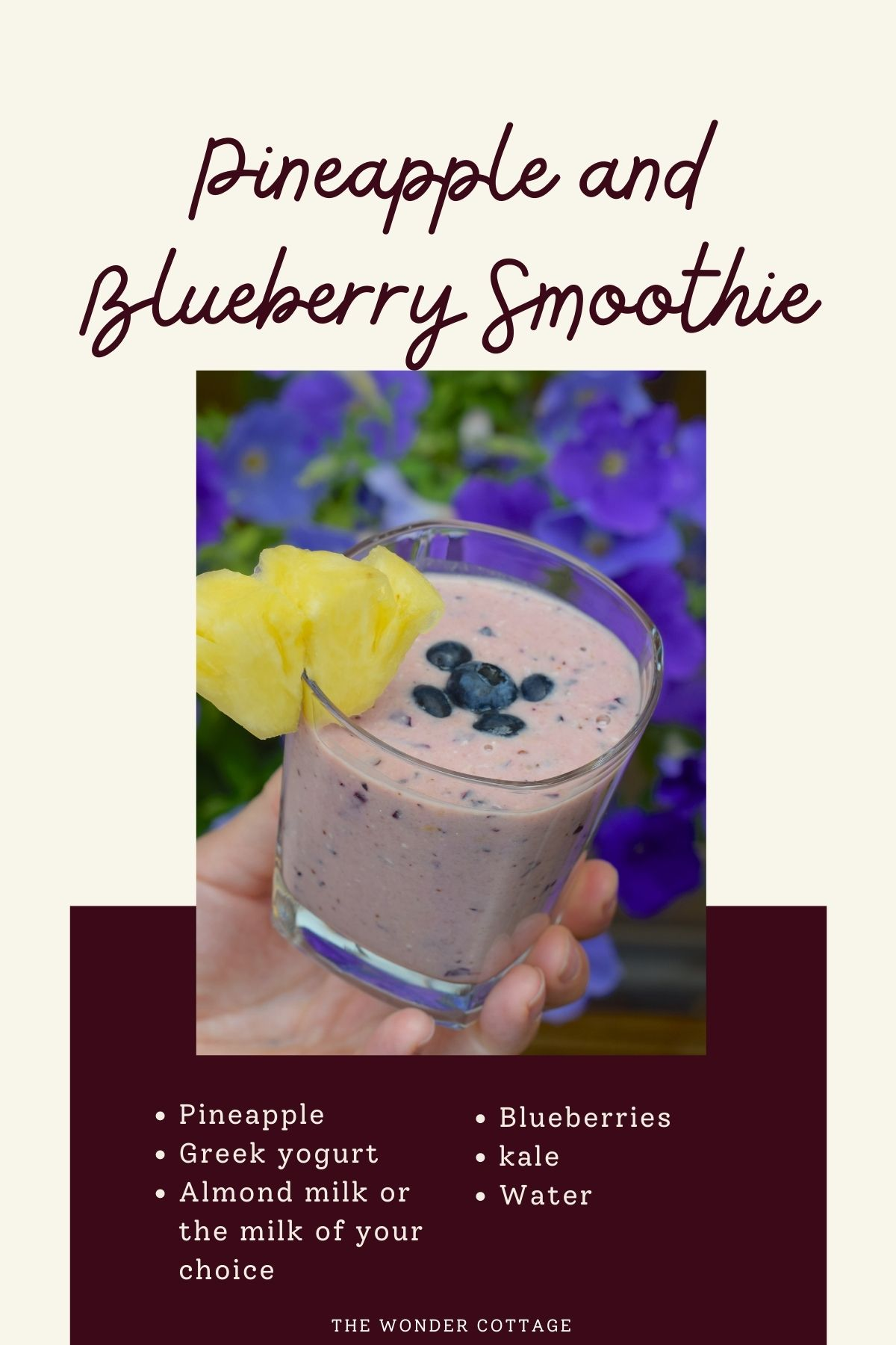 Pineapple and blueberry smoothie