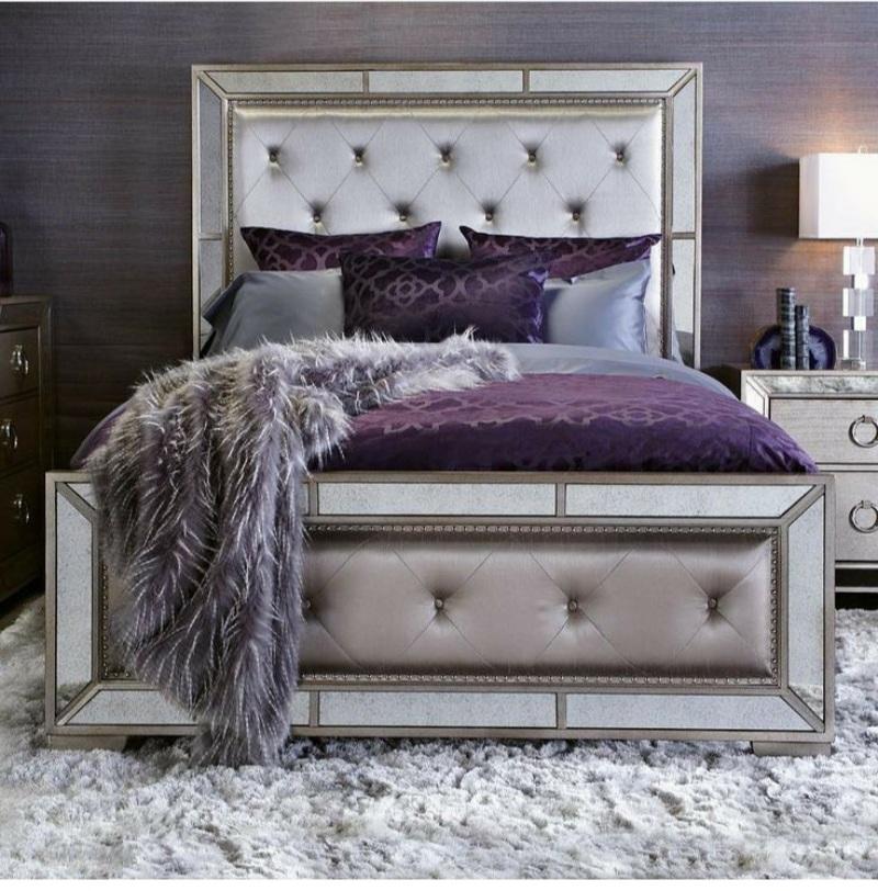 purple bedroom decor