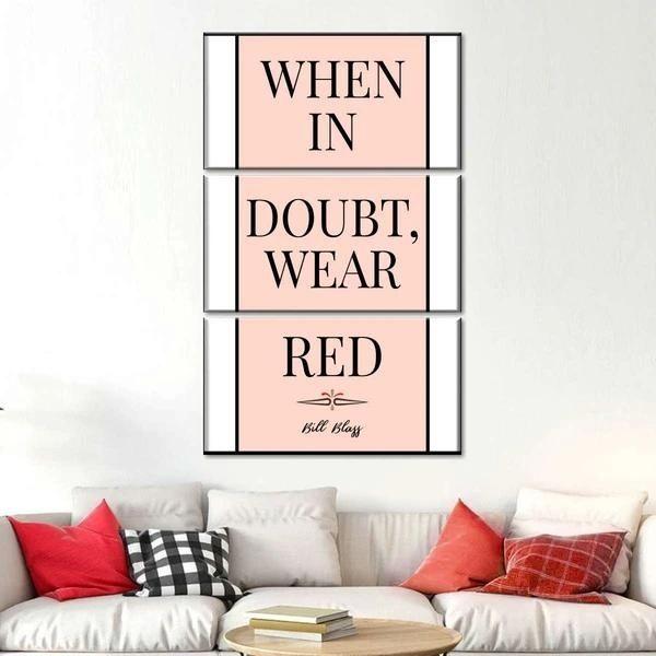 When In Doubt Wear Red Multi Panel Canvas Wall, Art