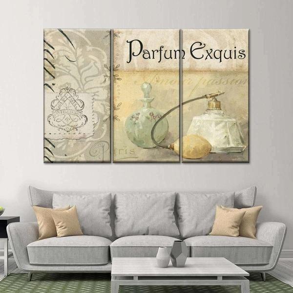 Parfum Elegant Multi Panel Canvas Wall Art