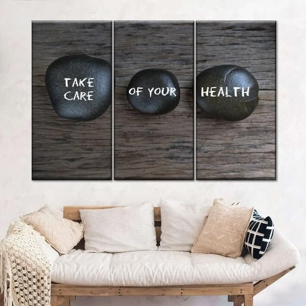 Take Care Of Your Health Multi Panel Canvas Wall Art