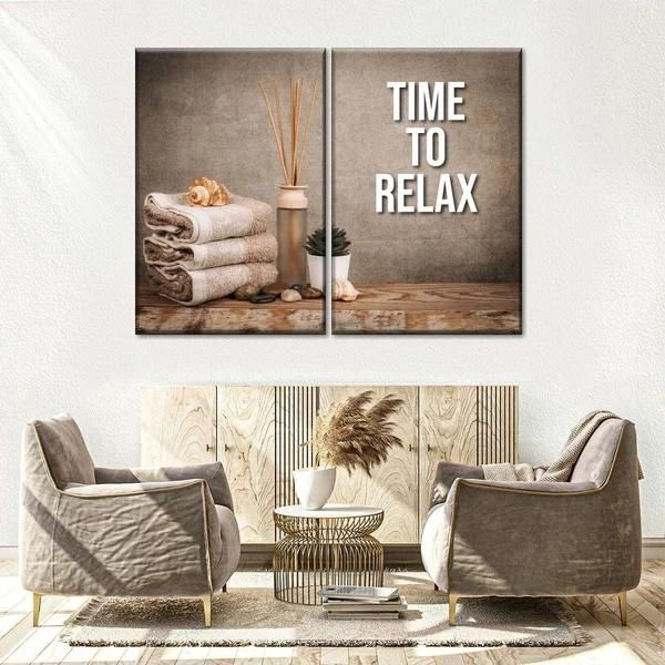 Time To Relax Spa Multi Panel Canvas Wall Art