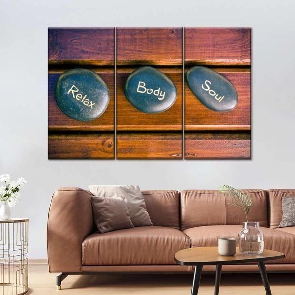 Relax Body Soul Multi Panel Canvas Wall Art