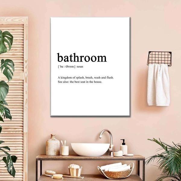 Bathroom Definition Canvas Wall Art