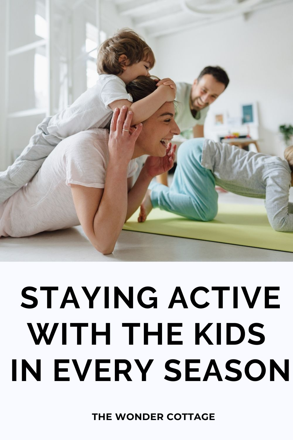 staying active with the kids in every season