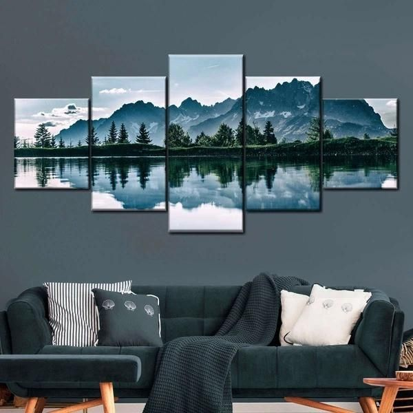 5 piece symmetric wall arts