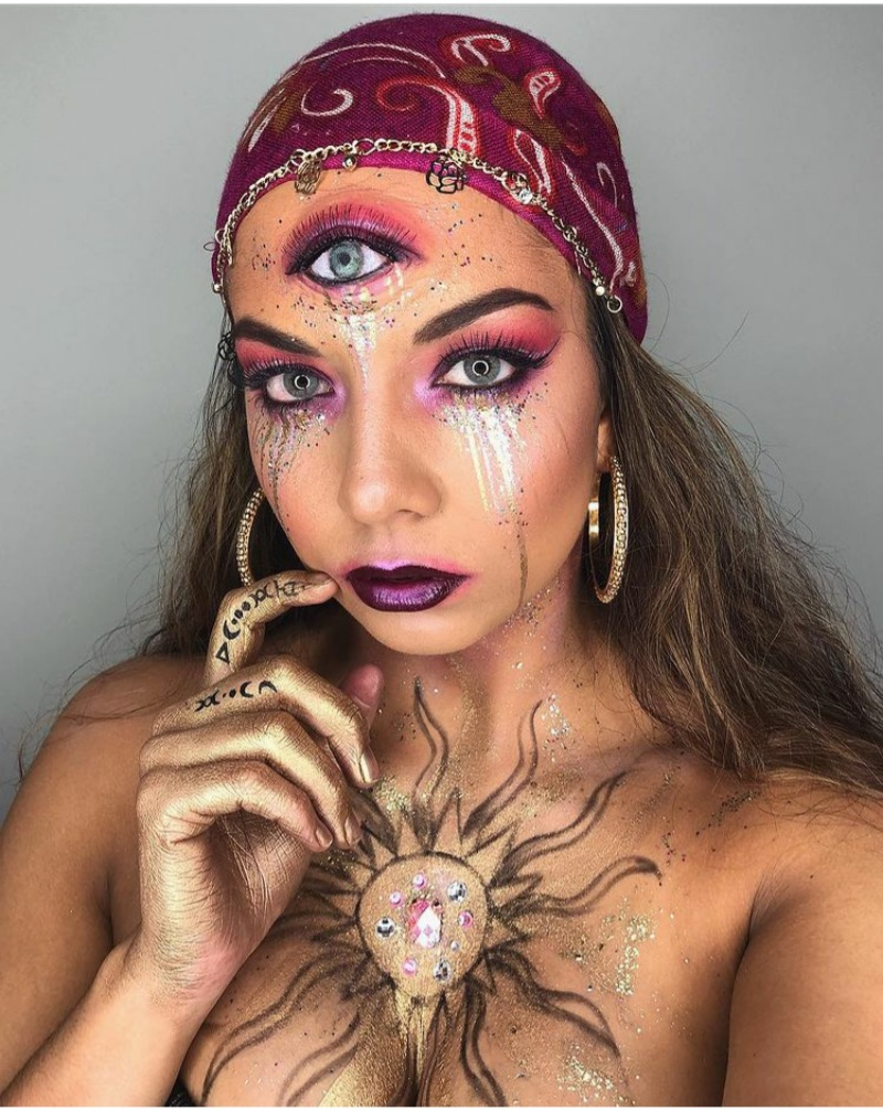 fortune teller makeup