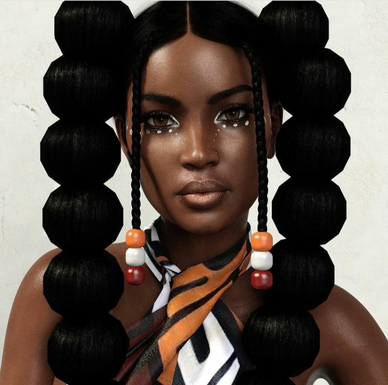 bubble hairstyle braids