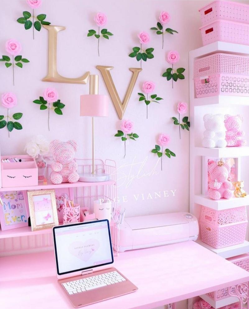 pink office ideas
