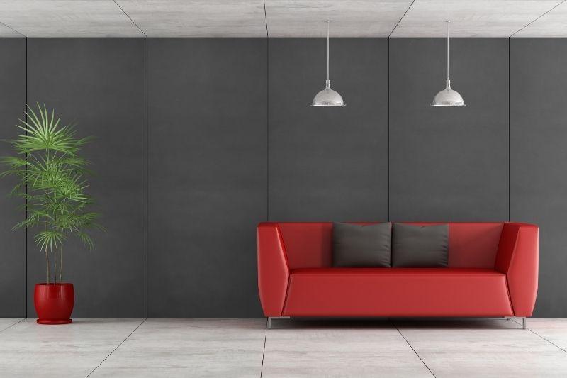 concrete floor living room